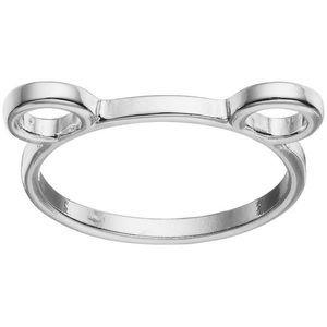 LC Lauren Conrad Silver Tone Bear Ears Ring